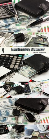 Accounting delivery of tax answer