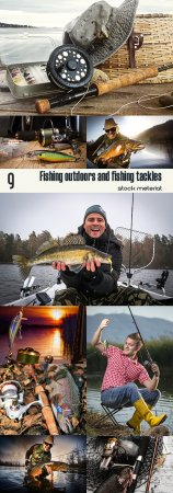 Fishing outdoors and fishing tackles