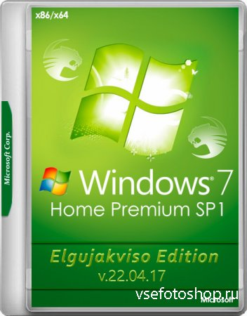 Windows 7 Home Premium SP1 x86/x64 Elgujakviso Edition v.22.04.17 (RUS/2017 ...