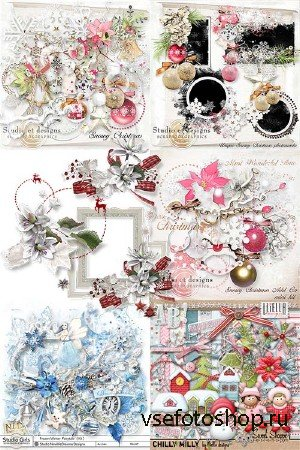 Scrap set - White Christmas / Lliella Chilly Milly Girls / Snowy Christmas / Frozen