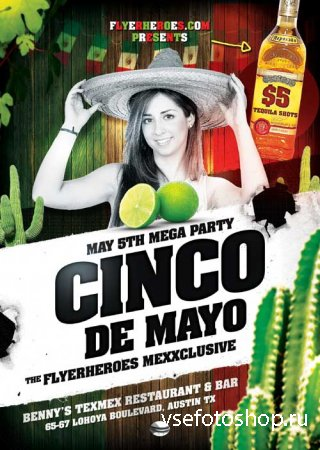 Cinco De Mayo 1 psd flyer template